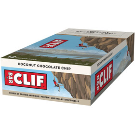 CLIF Bar Confezione di barrette energetiche 12x68g, Coconut Chocolate Chip